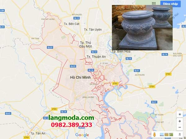 Bán chân tảng đá kê cột tại Sài Gòn
