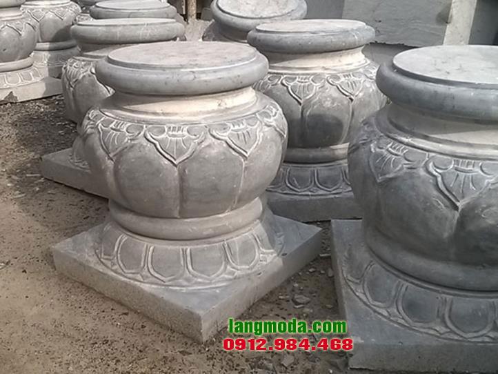 Chân tảng đá LM 18 bán chân cột đẹp, đá kê chân cột nhà gỗ