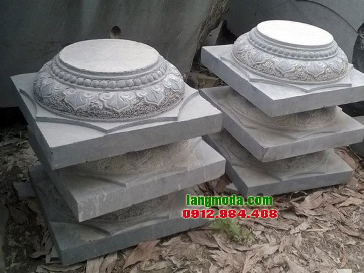 Chân tảng đá LM 35 đá tự nhiên đẹp, mẫu đá kê cột nhà thờ họ, từ đường