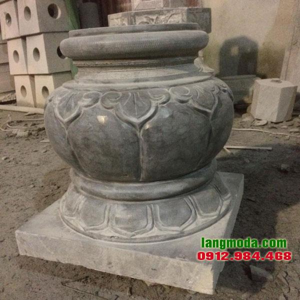 Chân tảng đá LM 47 đá kê cột nhà thờ họ, mẫu đá kê cột đẹp