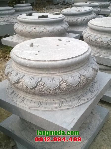 Chân tảng đá LM 55 đá kê cột đẹp, mẫu chân cột nhà đẹp bằng đá khối