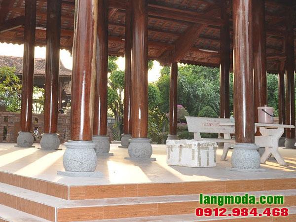 Chân tảng đá LM 67 - Đá kê chân cột nhà gỗ, nhà sàn, nhà cổ đẹp