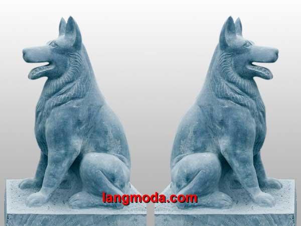 Chó đá LM 04 xanh nguyên khối