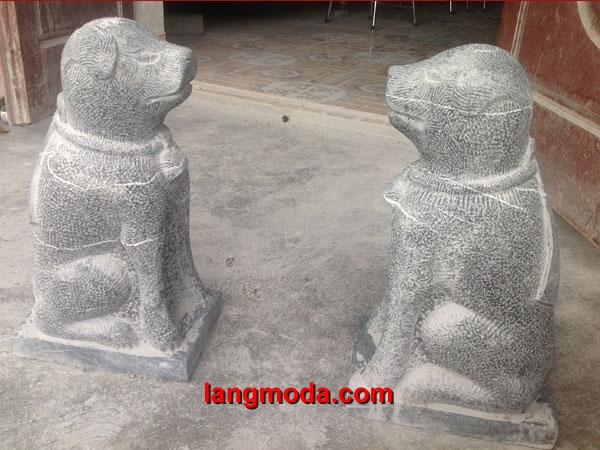 Chó đá LM 13 chó yểm bằng đá