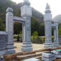 Cổng đá LM 15 - Mẫu cổng khu lăng mộ bằng đá