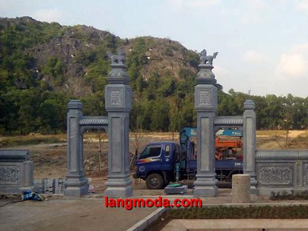 Cổng đá LM 19 - Mẫu cổng tam quan đá đẹp hoành tráng