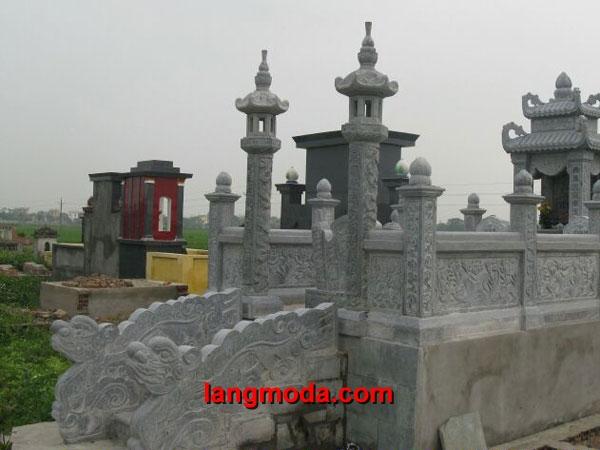 Cổng đá LM 21 - Cổng đẹp bằng đá khối cao cấp