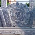 Cuốn thư đá LM 13 rồng chầu mặt nguyệt