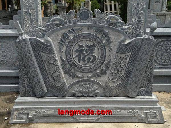 Cuốn thư đá LM 19 xanh Ninh Bình