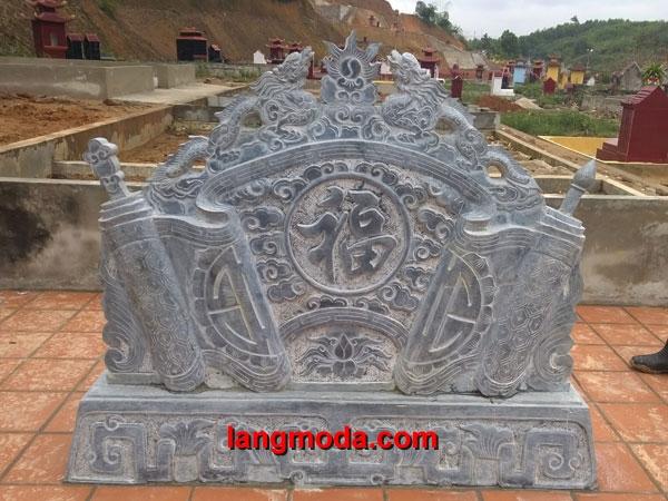 Cuốn thư đá LM 21 đặt chùa
