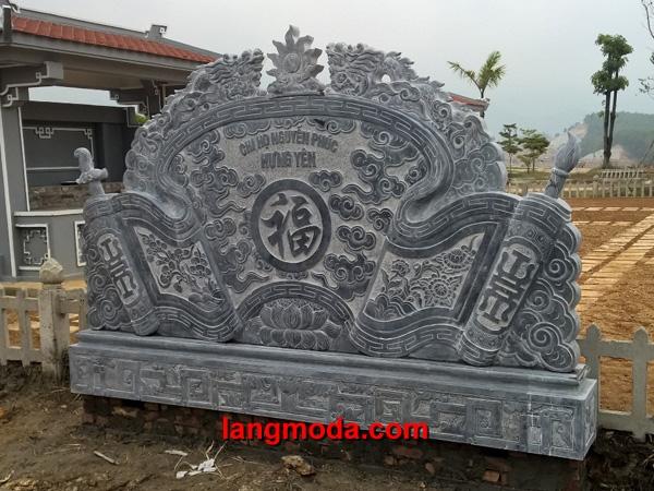 Cuốn thư đá LM 51 đá xanh Thanh Hóa