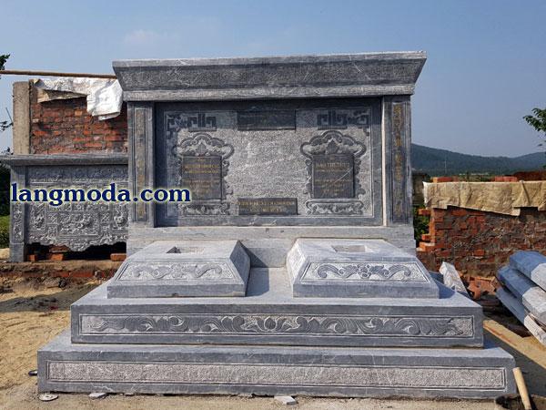 LM 55 Mẫu mộ đôi đẹp