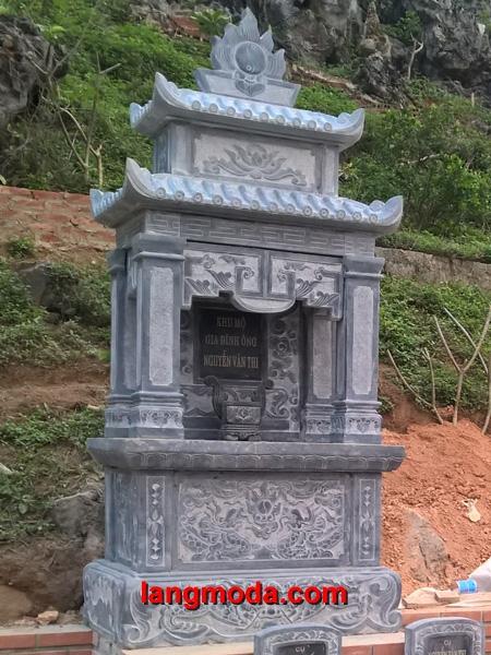 Mẫu lăng thờ đá đẹp LM 33