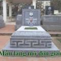 Mẫu mộ đơn giản
