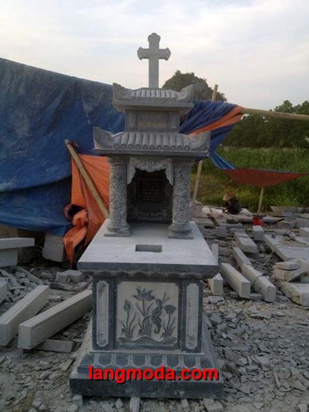 Mộ công giáo đá LM 12
