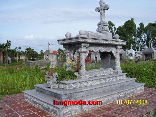Mộ công giáo đá LM 16
