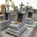 Mộ công giáo đá LM 24