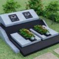 Mộ đá hoa cương granite LM 11