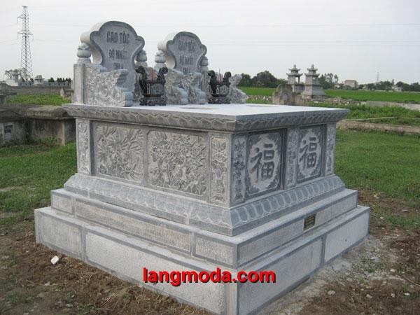 Mộ đôi đá LM 28, mẫu mộ đôi bằng đá khối tự nhiên