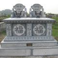 Mộ đôi đá LM 33, kích thước xây mộ đôi theo Lỗ Ban