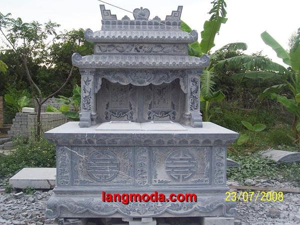 Mộ đôi đá LM 35, tư vấn xây dựng mộ đôi bằng đá tự nhiên