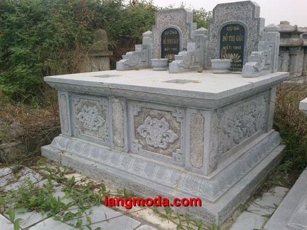 Mộ đôi đá LM 41, làm mộ đôi đẹp kích thước chuẩn