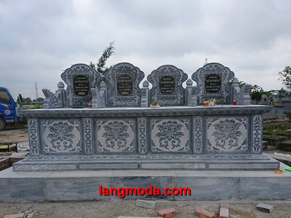 Mộ đôi đá LM 47, mẫu mộ đôi bằng đá xanh
