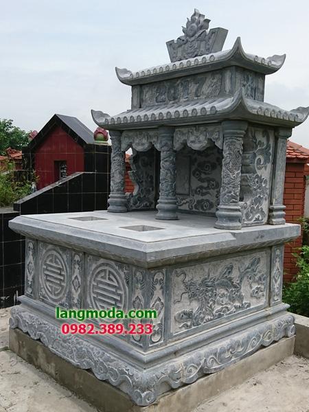 Mộ đôi đá LM 49 01 - mẫu mộ đôi đẹp