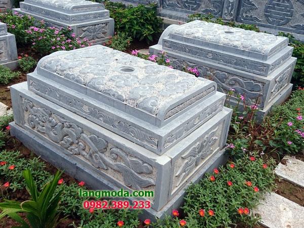 Mộ không mái đá LM 66 01 - mẫu mộ đẹp đơn giản