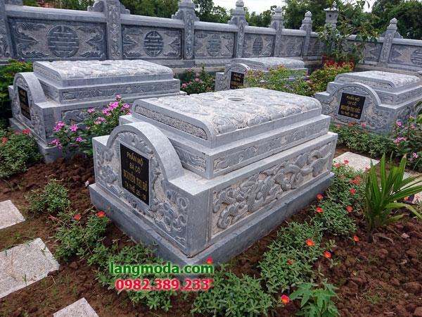 Mộ không mái đá LM 66 - mẫu mộ đẹp đơn giản
