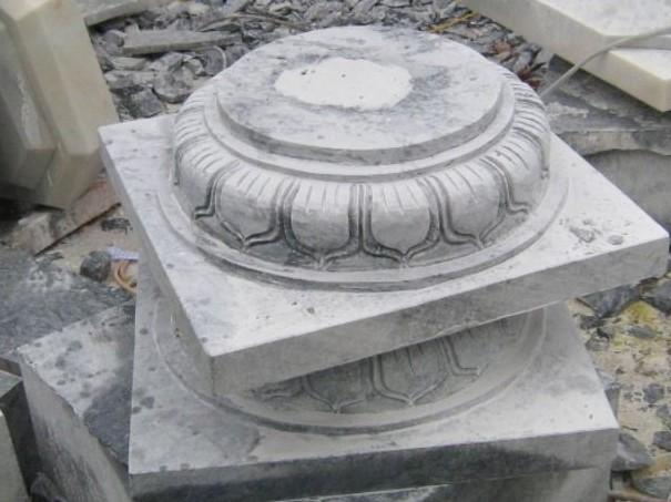chân tảng đá kê cột gỗ tại sài gòn