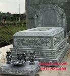 Thành phẩm sau khi sản xuất và lắp đặt lăng mộ đá